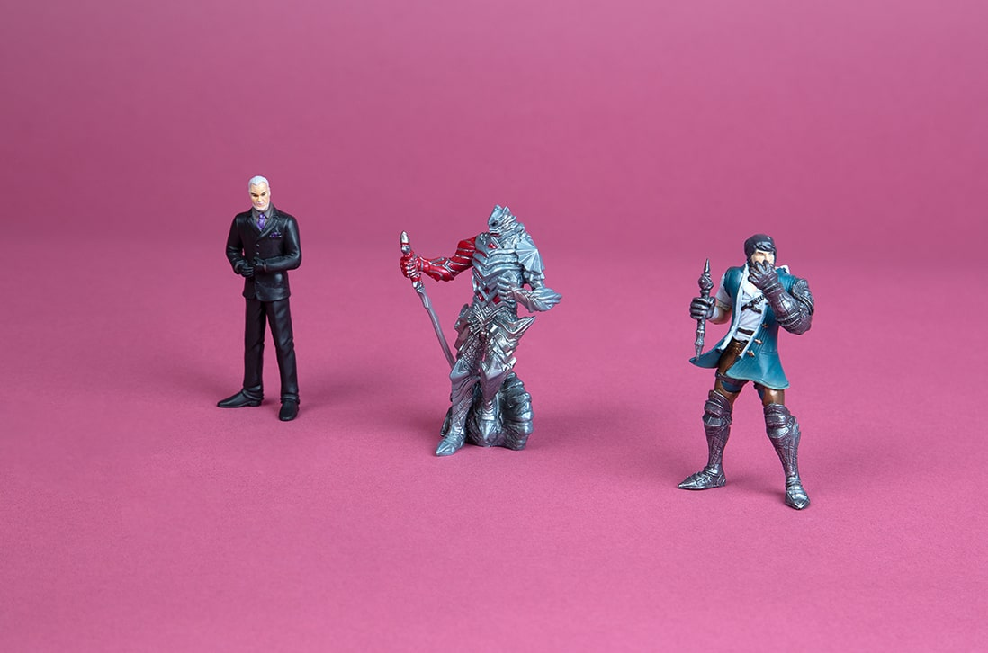 customised action figures and toys